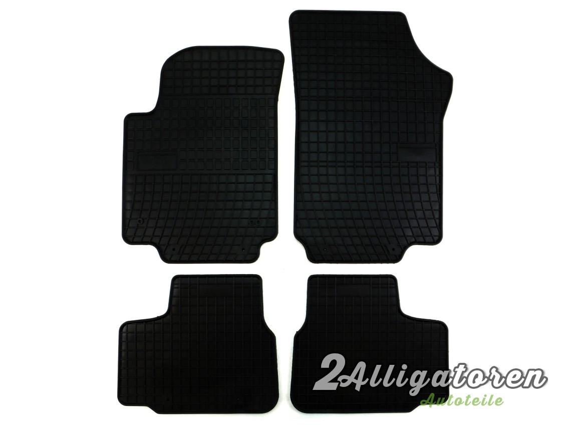 4 x gummi fu matten f r vw volkswagen up seitdem 2011. Black Bedroom Furniture Sets. Home Design Ideas