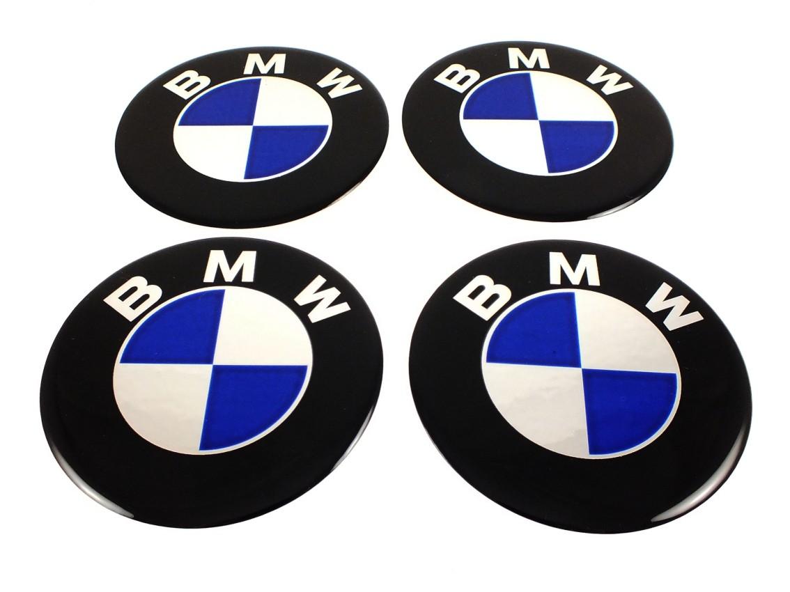 Bmw ★4 X New★ Emblems 50mm 2 Quot Wheel Center Cap Stickers