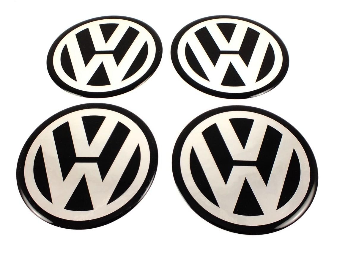 vw 4 x new emblems 50mm 2 wheel center cap stickers. Black Bedroom Furniture Sets. Home Design Ideas