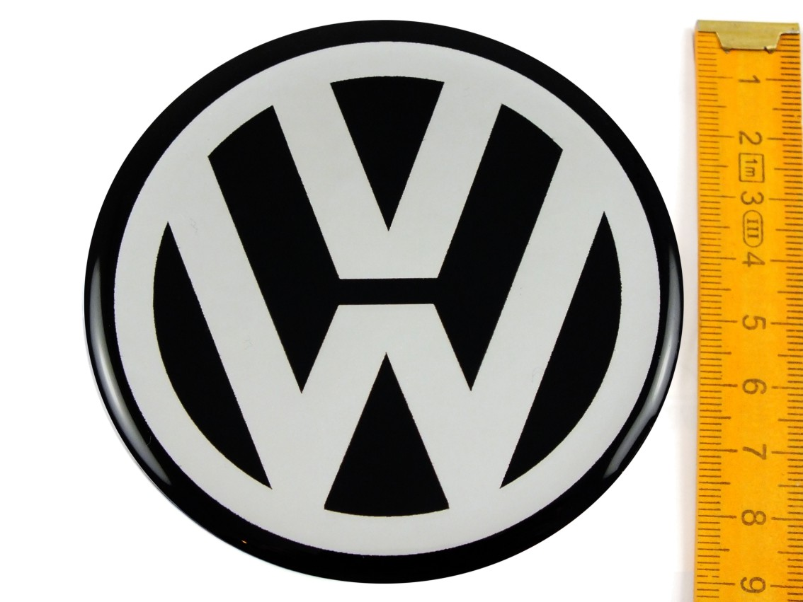 vw volkswagen 4 st ck silikon 90mm aufkleber emblem. Black Bedroom Furniture Sets. Home Design Ideas